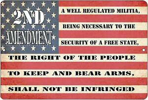 USA-American-Flag-Metal-Tin-Sign-Wall-Decor-Man-Cave-Bar-US-2nd-Amendment-Second