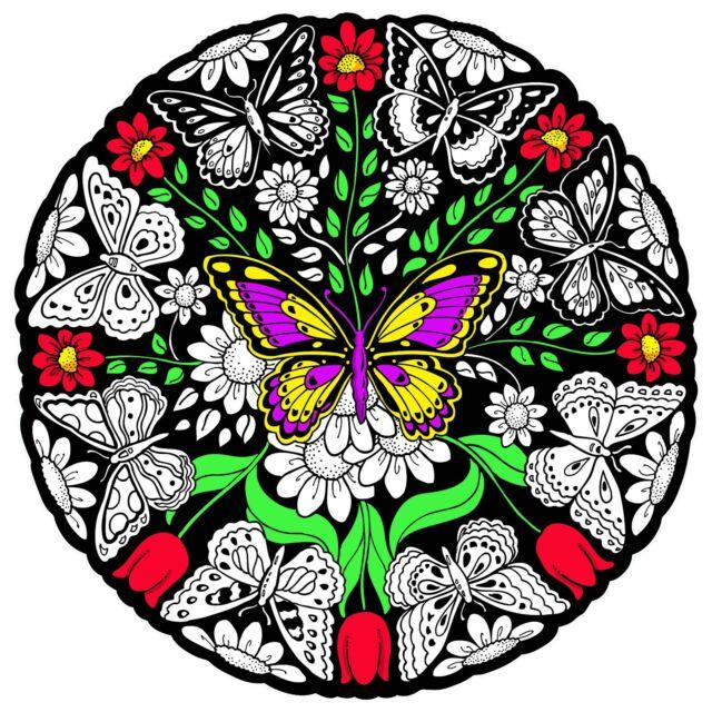 Butterfly Mandala - Large 20x20 Inch Fuzzy Velvet Coloring Poster   eBay