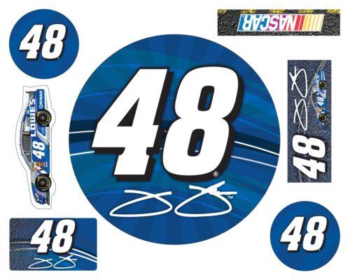 NASCAR #48 Jimmie Johnson 7 PC DECAL SET-Jimmie Johnson 7 ...