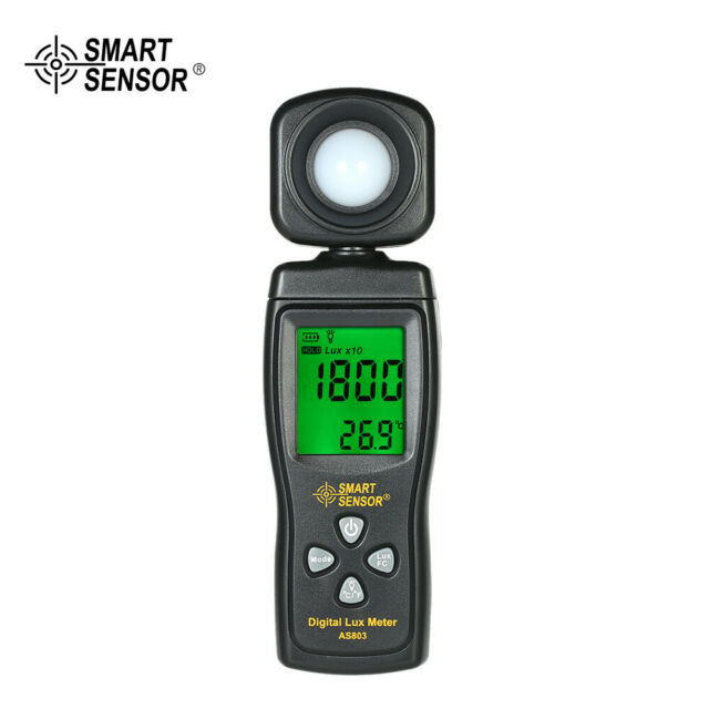Smart Sensor AS803 Mini LED Lux Meter 0-200000 Lux Data Hold Function NEW T5Q7