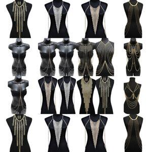 Sexy-Rock-Women-Tassels-Bikini-Crossover-Harness-Waist-Belly-Body-Chain-Necklace