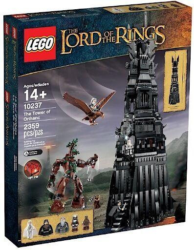 LEGO LEGO LEGO COLLEZIONISTI 10237 LORD OF THE RINGS TOWER OF ORTHANC NUOVO RARO RITIRATO 5480f7