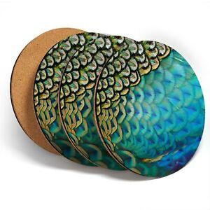 4-x-Coasters-Beautiful-Feathers-Peafowl-Peacock-44250