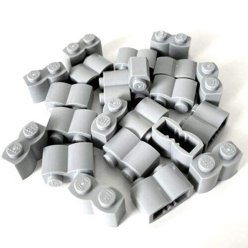 NEW QTY X22 30136 LEGO® Light Bluish Grey 1x2 Log Bricks