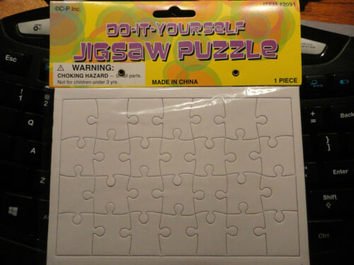 """Rectangle Blank Puzzle DIY Jigsaw 28 Pcs 6-3//4/"""" X 4-3//4/"""" X 3//64"""" Pack of 6"""