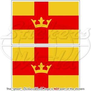 SWEDEN-Swedish-Church-Flag-SVENSKA-KYRKAN-Vinyl-Bumper-Sticker-Decal-75mm-3-034-x2