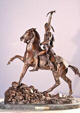 """Scalp"" Solid Lost Wax Bronze Sculpture Statue by F. Remington Mini Size"