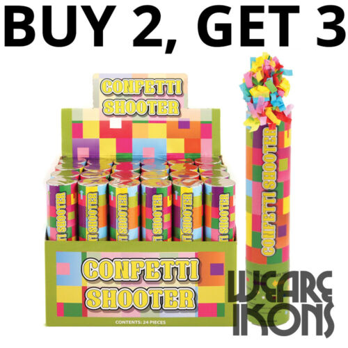 X1 20cm Confetti Shooter  Party Time Birthday Wedding Celebration Poppers