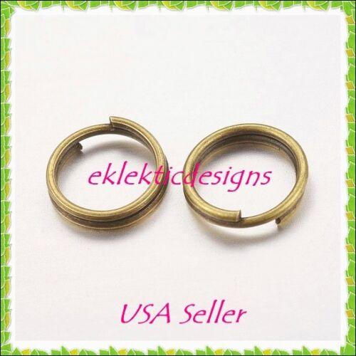 7mm 50pcs Antique Brass Bronze Split Dbl Jump Rings Jewelry Findings Earrings
