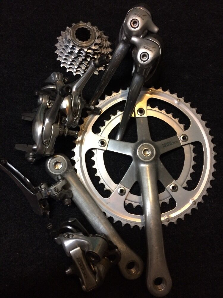 Shimano RX100 8  Speed 8pc. Group set Road Cycling.  A Must See   Nice    fast shipping worldwide