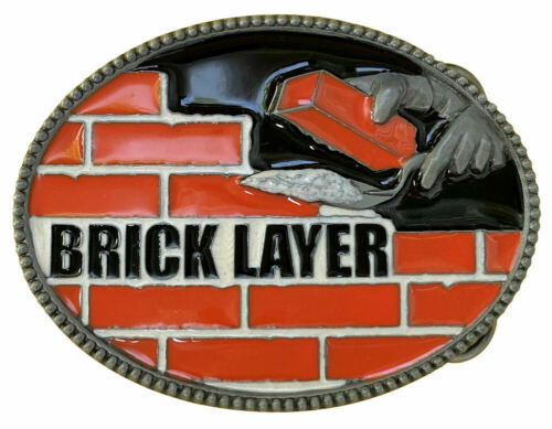 Bricklayer Belt Buckle with Presentation Box