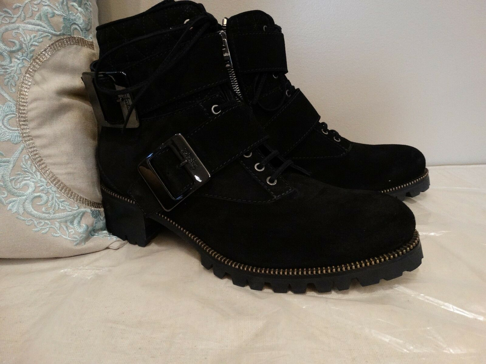 Sebastian Milano S6426 Women US 11 Black Ankle Boot EU 41