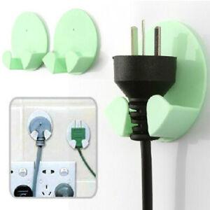 GI-KE-Wall-Mount-Adhesive-Power-Plug-Hook-Rack-Holder-Hanger-Home-Office-Decor