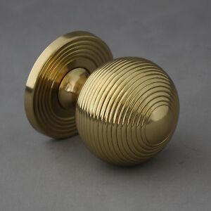 Brass-Beehive-Front-Door-Pull