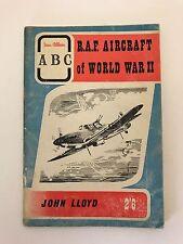 RAF Aircraft of World War II  John Lloyd Ian Allan ABC Paperback 1960's