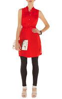 NEW KAREN MILLEN soft draped red tunic dress size 12