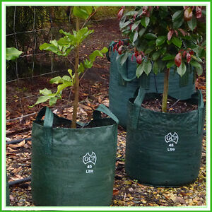 Image Is Loading 45 Litre Woven Planter Bags Pack X 30