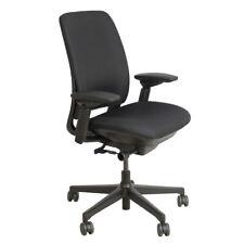 Steelcase Amia Adjustable Swivel Task Fabric Office Chair Black Refurbished