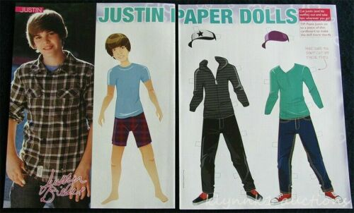 Justin Bieber Paper Dolls from a Teen Magazine 2 Pages P1888