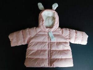 c600d16a2 NWT Gap Baby Girl s Bunny Puffer Jacket Coat Pink Outerwear 0-6M 6 ...