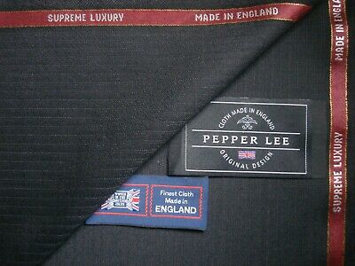 """100/% ALL WOOL """"very light milled"""" BLACK SUITING FABRIC  MADE IN ENGLAND 3.4 m."""