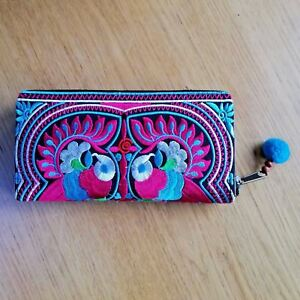 Fair-Trade-Clutch-Purse-Wallet-Cards-Embroidered-Handmade-Evening-Ethnic-Bag