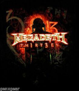 MEGADETH-cd-cvr-TH1RT3EN-Official-SHIRT-XL-New-thirteen-13
