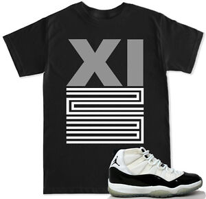 201d7e16ee1 XI 23 Grey T Shirt to match with Air Jordan 11 Retro 11 Concord Low ...