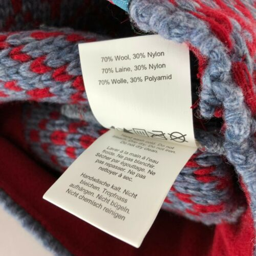 Outdoor Research Ember Beanie Hat Knit Wool Blend Chevron Red Blue One Size