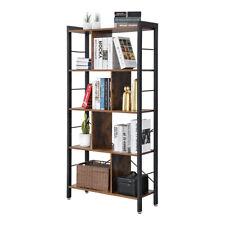 Industrial Bookshelf 5 Tier Ladder Shelf Metal Display Rack Storage Shelving Us