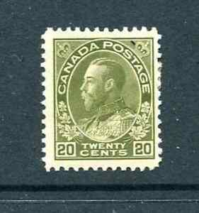 Canada Sc# 119 King George V Mint Hinged 1925  CV $110.00