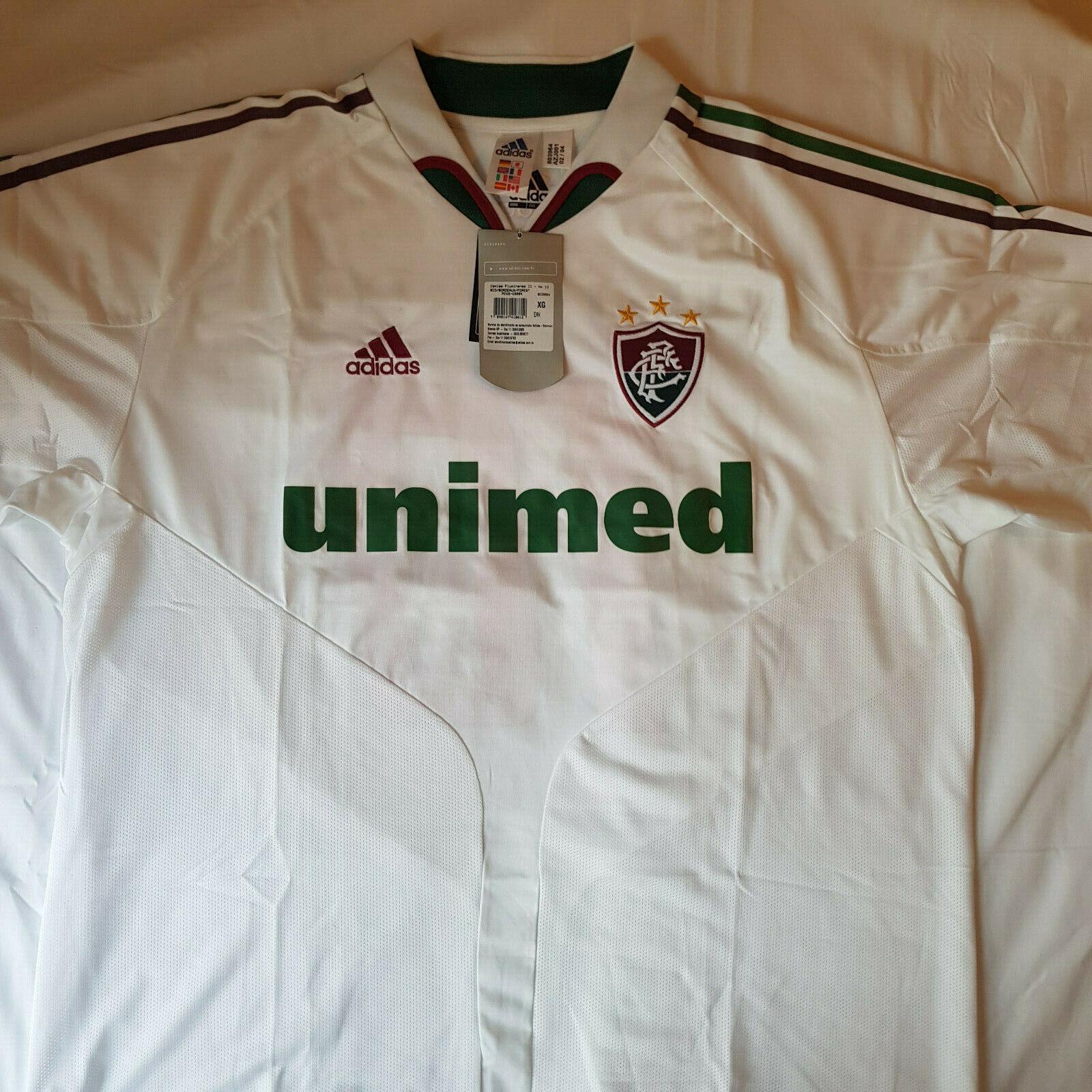 FLUMINENSE BRASILE AWAY FOOTBtutti SHIRT 2005 trikot maglia ADIDAS XL NUOVO CON ETICHETTA no.10