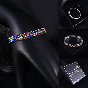 Dehnbares-Armband-mit-Gummi-Zirkonia-Weissgold-pl-Swarovski-Elements-Etui