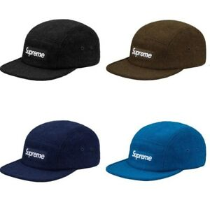 90ebf0e5152 SUPREME Featherweight Wool Camp Cap Black Teal Navy Olive box logo ...