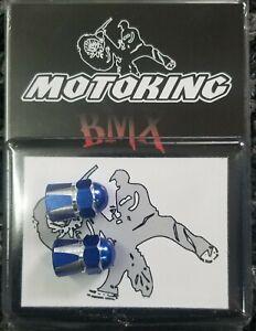 PAIR MOTOKING BMX PRESTA CAPTIAN SKULL VALVE CAPS RED