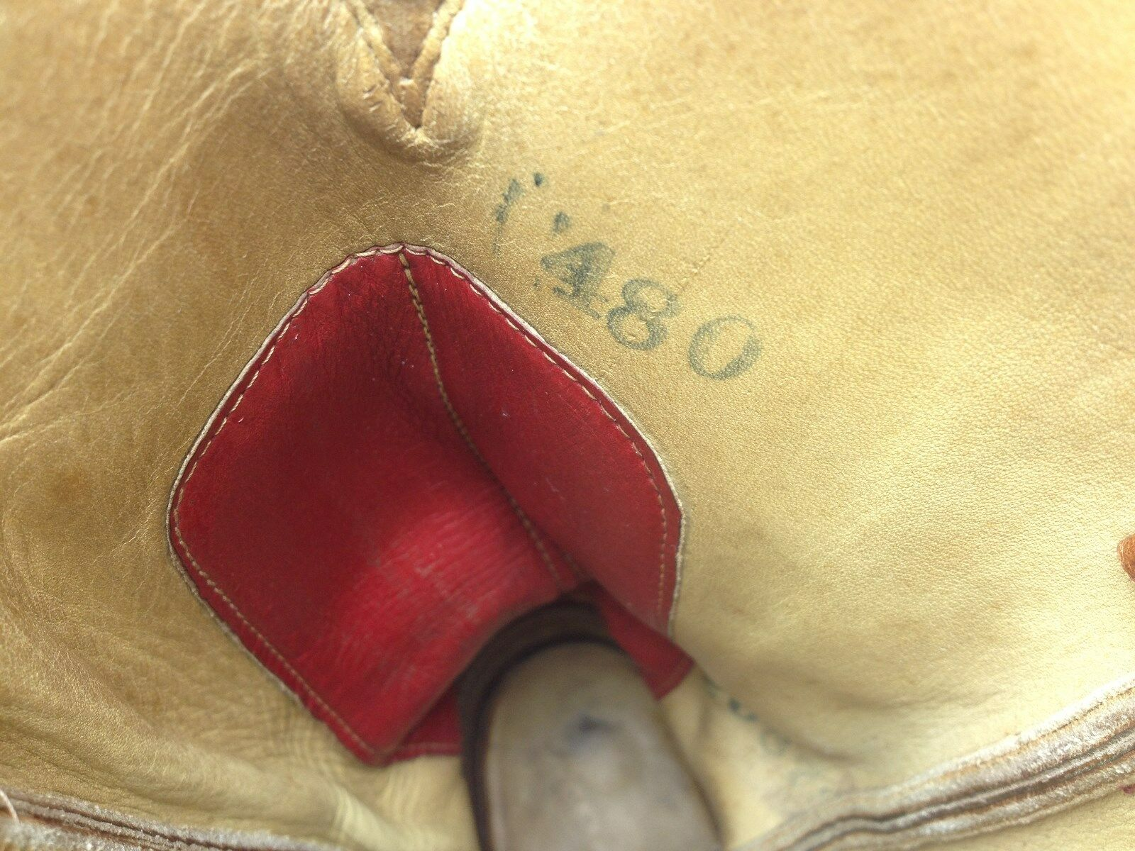 VINTAGE DISTRESSED UNION  MADE PACK IN USA  WESTERN ENGINEER CHORE PACK MADE BOOTS 8 M c1eac9