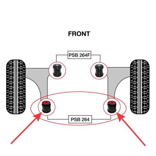 2 x Mazda 3 Front Lower Arm Rear New PSB Poly Polyurethane Bushing 2003-2015