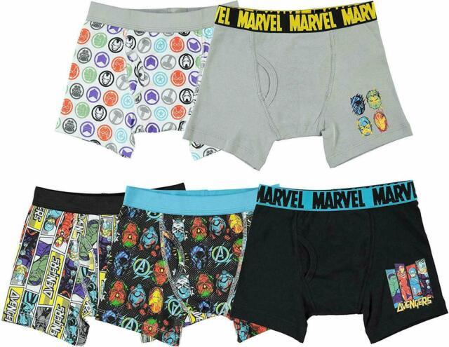 "Boys Marvel Comics Avengers Boxer Shorts Boxers Pants Underwear 5-6 Years 32/"""
