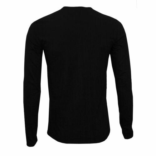 Versace Iconic Men/'s Crew-Neck Long-Sleeve T-Shirt Black