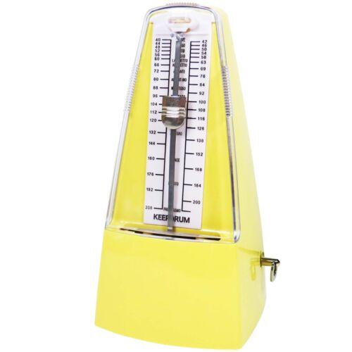 keepdrum GMPL YW mechanisches Mälzel Metronom  Taktgeber mit Glocke Gelb