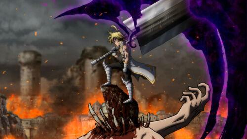 The Seven Deadly Sins Meliodas Demon King Melio Wallpaper Poster 24 x 14 inches