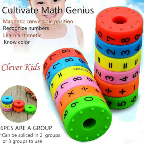 Axis Magnetic Mathematics Arithmetic Learning Kids Puzzle Educational Cube Toy d