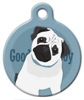 Good Boy Pug - Custom Personalized Pet Id Tag For Dog And Cat Collars