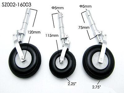 RC plane Alloy Undercarriage Anti-vibration Landing Gear w/3pcs PU Plastic wheel