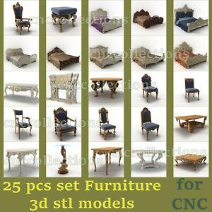 25 pcs set 3d stl models  for CNC Router Artcam Aspire