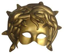 Medusa Greek Snake Venetian Mardi Gras Gold Mask Masquerade Costume Accessory