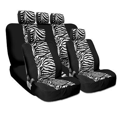 New Design Safari Zebra Tiger Print Universal Car Truck Seat Covers Smart Pocket