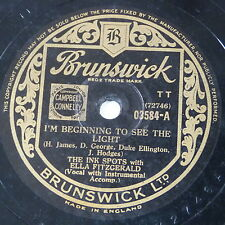 78rpm INK SPOTS ELLA FITZGERALD beginning to see the light / thats the way it is