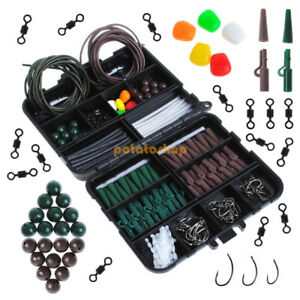 200 PCS Pompano Rig Making Kit DIY Accessories Float Swivels Duo Lock Snaps