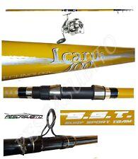 kit canna icarus 4m 120g + mulinello domi pesca surfcasting beach ledgering mare